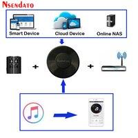 Audiocast M5 DLNA odtwarzacz z adapterem bezprzewodowy Wifi muzyka Audio Streamer odbiornik Audio głośnik do muzyki dla Spotify wielu strumieni pokojowych w Bezprzewodowe adaptery od Elektronika użytkowa na