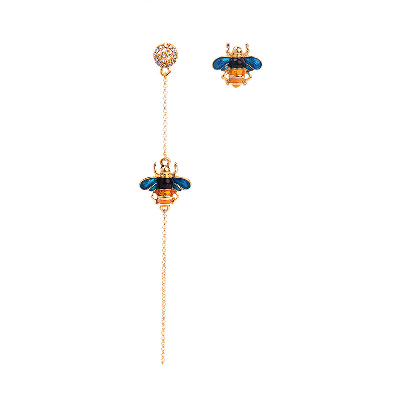 Joolim Cute Asymmetric Bee Drop Earring Mismatching Earring Summer & Spring Earring