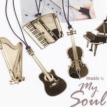 Ляссе метал фортепиано конструкции закладки труба подарков гитара золотой kawaii корейский
