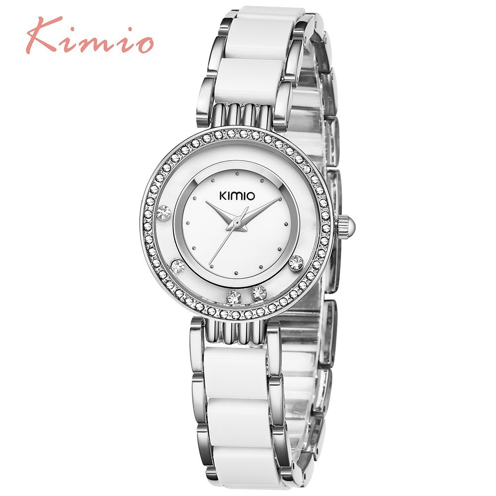 KIMIO Women Watch Fashion Crystal Diamond Rolling Rhinestone - Կանացի ժամացույցներ - Լուսանկար 2