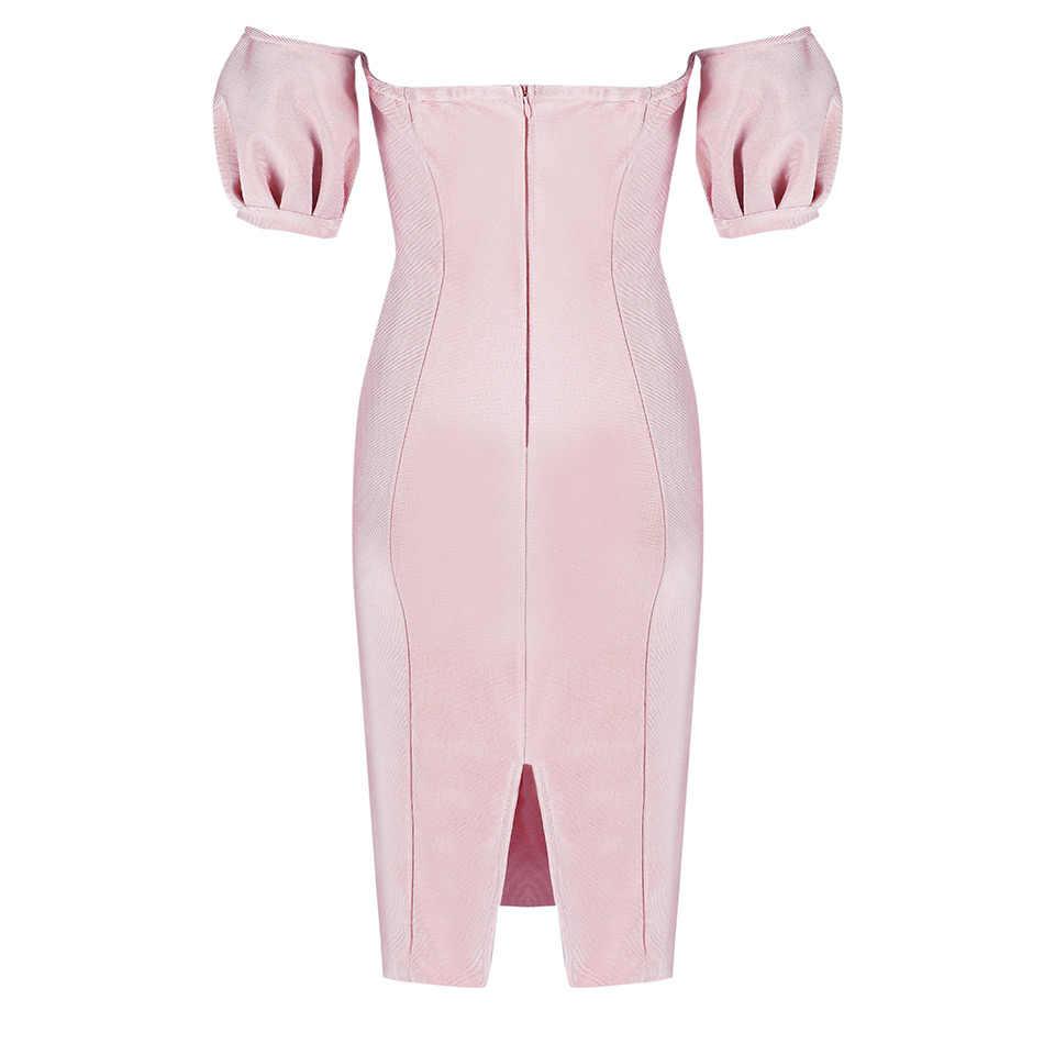 Seamyla новый летний платье повязки Для женщин 2019 с плеча Bodycon Летние Платья Vestidos сексуальное знаменитости вечерние платье