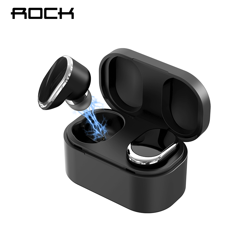 ROCK TWSワイヤレスBluetoothイヤホン充電ボックス付きBluetooth 5.0ヘッドフォンミニイヤフォンtai nghe bluetooth rock space