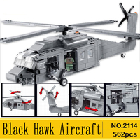 Technic Lepins City toy helicopter military Gunship UH 60 Black Hawk Plane Model kits Building Block Bricks Toy