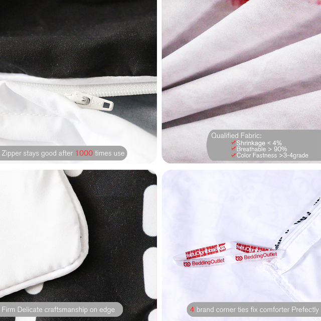 BeddingOutlet Sugar Skull with Glasses Bedding Set Pop Art Duvet Cover Set 3 Pieces Cool Soft Bedclothes For Gift Queen Size
