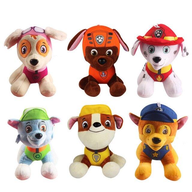 6 pçs/set Pata Patrulha brinquedos Do Cão Filhote de cachorro de Pelúcia boneca de Pelúcia Anime Crianças Brinquedos de pelúcia boneca de Presente
