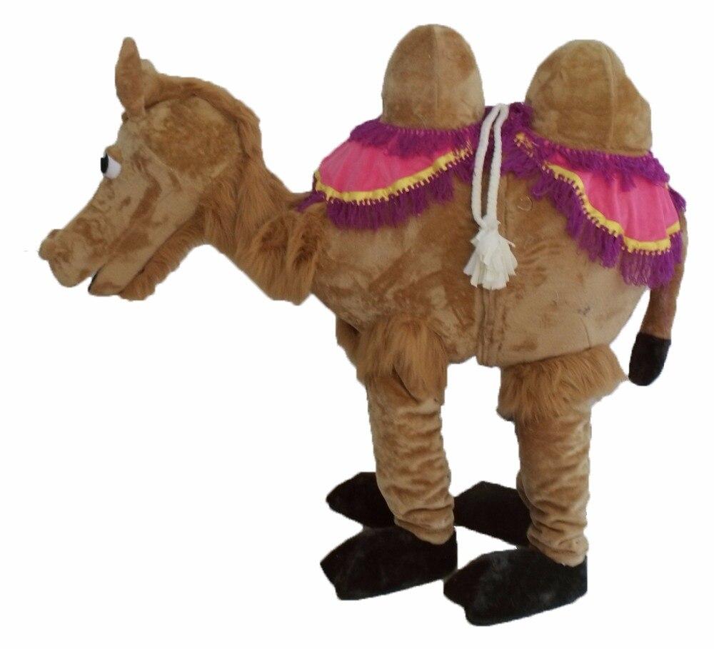 2 personne Chameau costume de mascotte de fantaisie personnalisée costume anime cosplay mascotte costume de déguisement de carnaval
