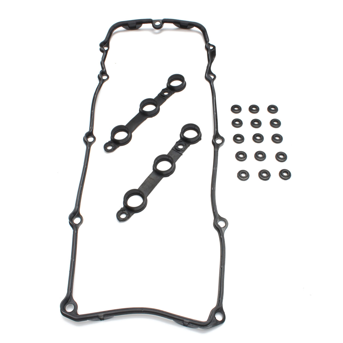 Oil Filter Valve Cover Set Seal Gasket Black For BMW 325