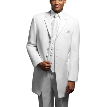 Top Selling custom made White Ball Gowns mens Winter suits Bridegroom Wedding Three-piece men suit 2017 ( jacket+Pants+vest+tie)