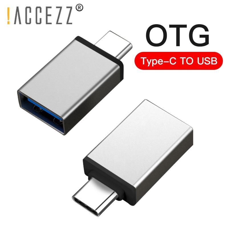 !ACCEZZ USB OTG Adapter Type C For One Plus 5 For LG G5 G6 Xiaomi Mi 5 6 8 Samsung Galaxy S8 S9 Data Sync USB Flash Converter