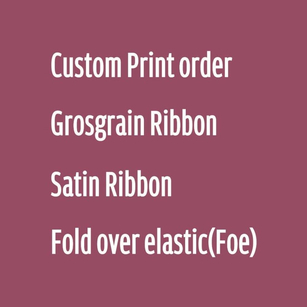Custom Print Grosgrain Ribbon Satin Ribbon Garment Elastic Bands Sewing Tape
