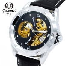 Diámetro del dial 42mm original auténtico Gucamel moda de gama alta de los hombres de negocios reloj hueco reloj mecánico automático