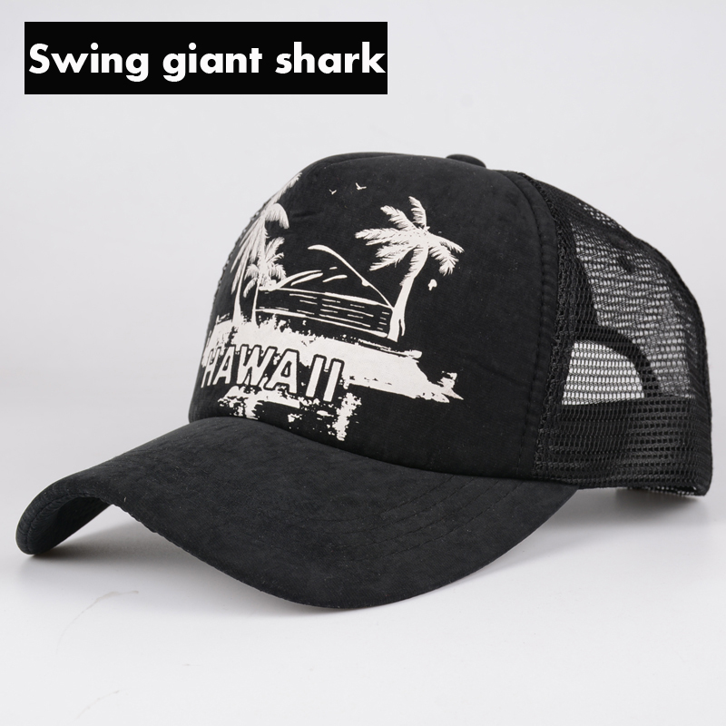 aeProduct.getSubject().  Swing giant shark  2017 new fashion ladies  baseball hat leisure summer Mesh cap snapback hip hop ... fa738971e3c3