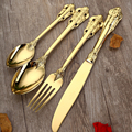 1pc Stainless Steel Gold Cutlery Dinner Spoon Steak Knife Fork European Luxury Golden Knife Fork Spoon and Tea spoons Dinnerware
