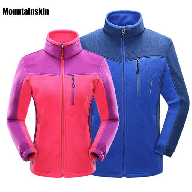 Mountainskin Softshell Jaquetas de Lã Ao Ar Livre Das Mulheres Dos Homens  de Inverno Esporte Quente 846f5623e7818