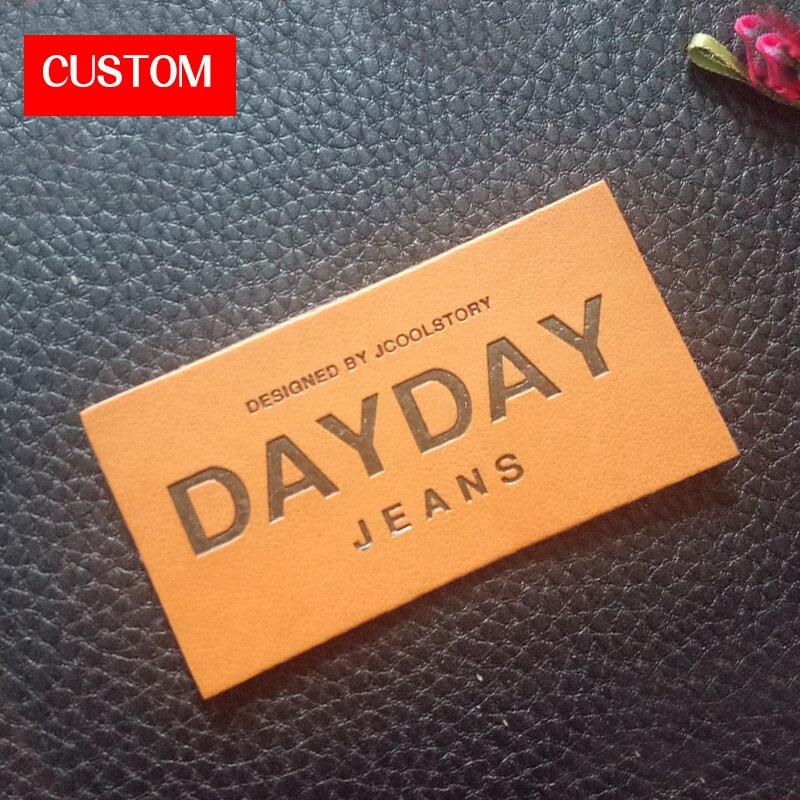 Usine privée personnalisée PU étiquettes en relief couture sur vêtements mode petites étiquettes en cuir personnalisé vêtement personnalisé