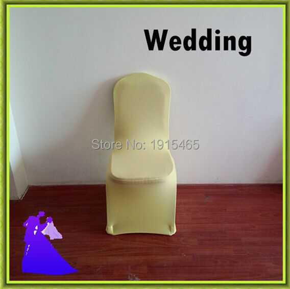 Chair Covers Price Fisher Sit And Play ᐃfactory 100pcs Baby Yellow Spandex For Factory Wedding Party Free Shipping