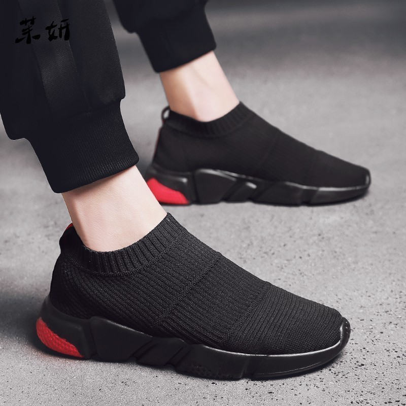Thin Shoes Summer Breathable For Shoes <font><b>Men</b></font> <font><b>Sneaker</b></font> Teen Casual Shoes Without Lace <font><b>Trend</b></font> <font><b>2019</b></font> <font><b>Fashion</b></font> Socks Shoes Tenis Masculino image