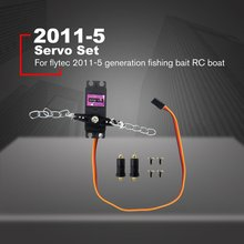 Flytec 2011-5 RC Bait Boat Parts Servo Set for Flytec 2011-5 1.5kg Fishing Boat Loading Remote Control Fishing Bait Boat fast rc electric fishing bait boat tl 380b 2 4g 3kg lower fishnet feeding hook fishing remote control double boat lure boat