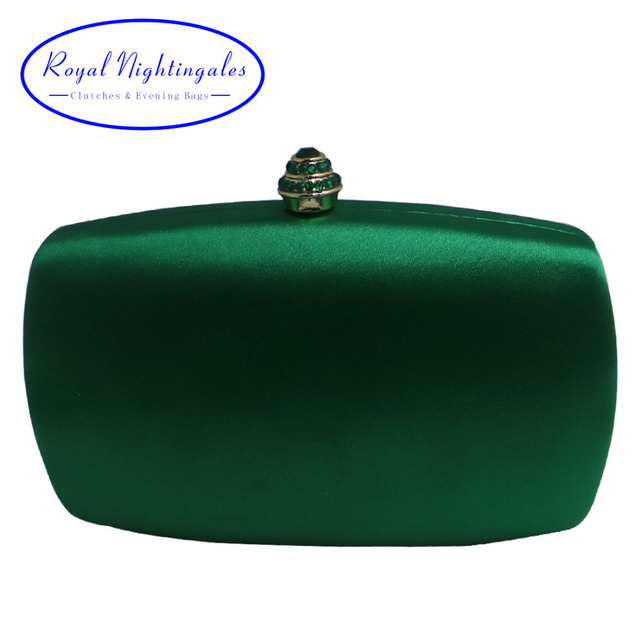 214f3a229d Elegant Hard Box Clutch Silk Satin Dark Green Evening Bags for Matching  Shoes and Womens Wedding Prom Evening Party