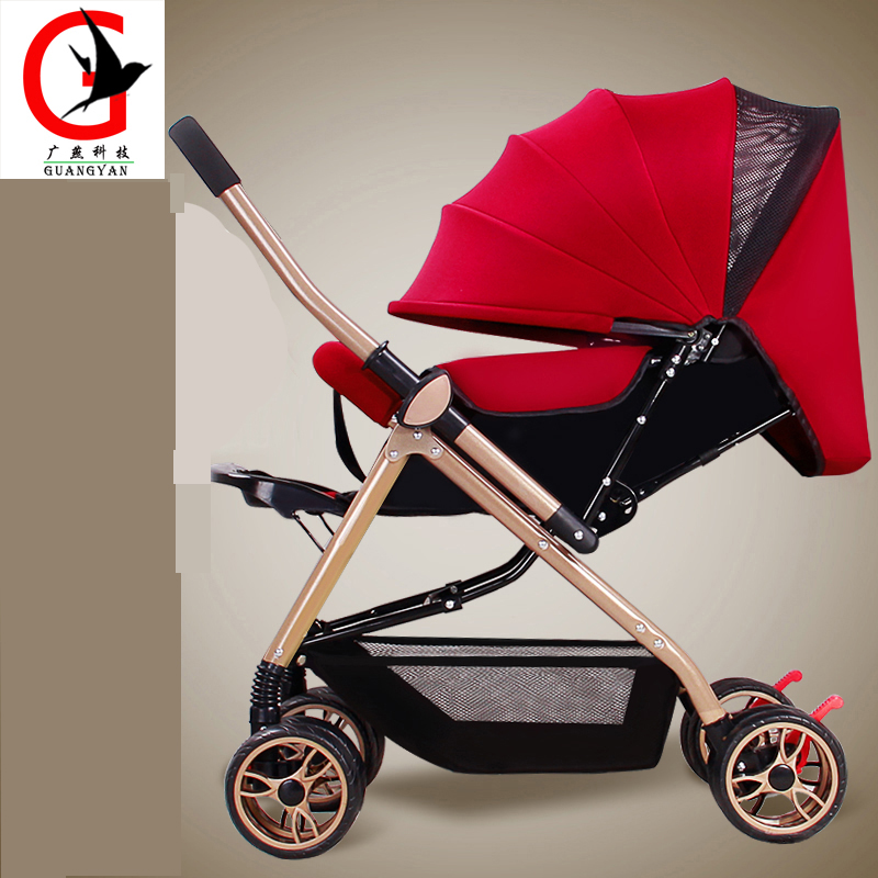Baby Stroller  2017 new Folding baby Carriage Lightweight Buggy Pushchair Pram Newborn Infant Car  DD-615 certified baby products baby buggy stroller with pad 600d oxford fabric kids pram and strollers 4 colors infant carriage on sale
