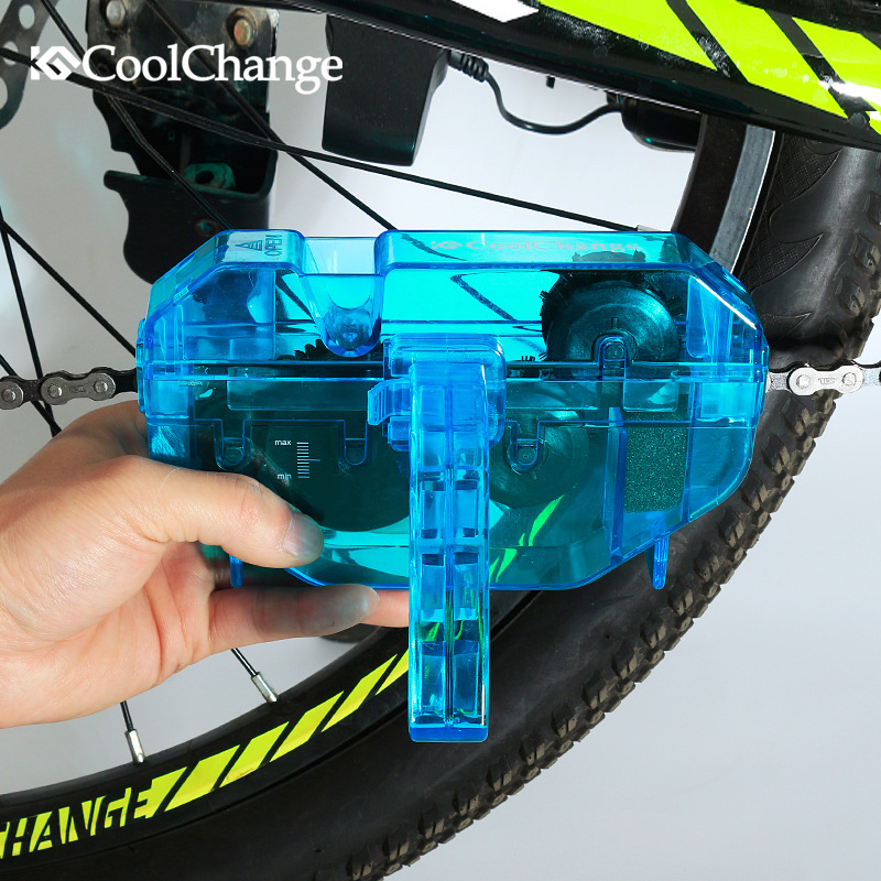 Coolchange Bicycle Chain Cleaner Tools Kit Cycling Road Mountain Bike MTB Cleaning Brushes Wash Scrubber Accessories