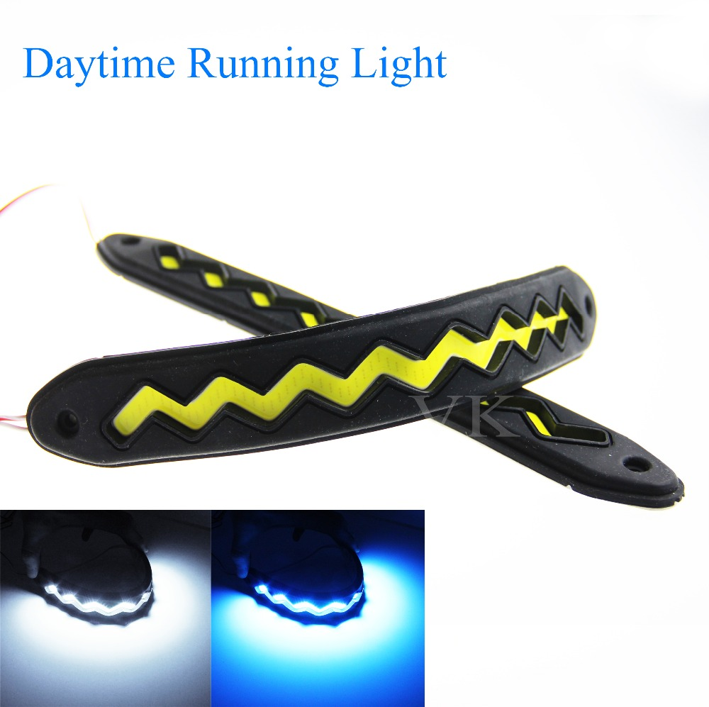 LED car light  Daytime Running Lights Automobiles COB Flexible Rubber soft LED DRL Driving Lamp For Car driving patrizia pepe patrizia pepe pa748bwhgp66