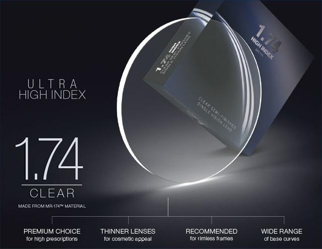 3cca63101a878 1.74 Ultra High Index Thin Aspheric Optical Prescription Lenses For Myopia  Glasses