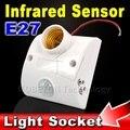 2016 Nuevo Estándar de la CA 170 V-250 V E27 LLEVÓ la Lámpara de La Bombilla Base infrarrojos IR PIR Motion Sensor Automático de Luz de Pared Zócalo Del Sostenedor Detector