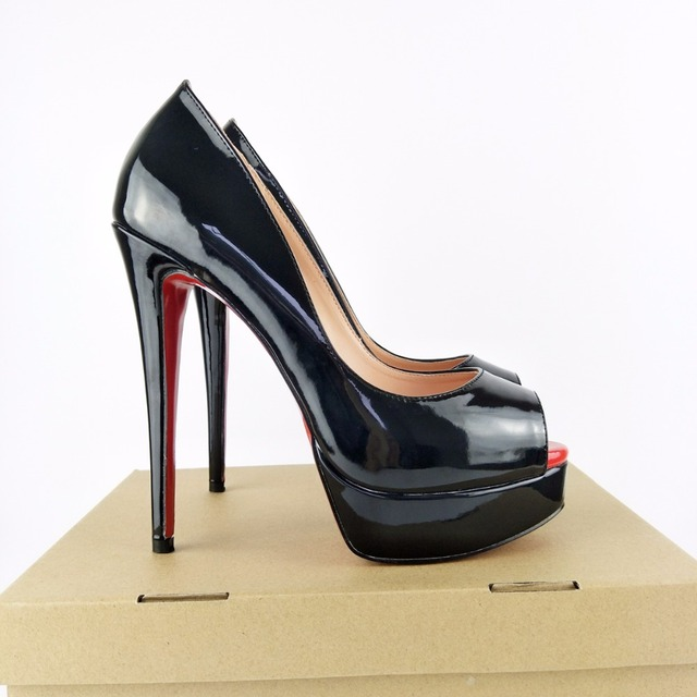 a1badbe2e9 ZK women fashion sexy high heels platform peep toe pumps shoes EU size EU  34--45