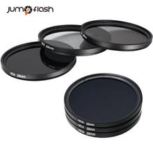 Filtro de Densidade Neutra ND2 ND4 ND8 ND16 ND32 Jumpflash e Kit de Acessórios Para DSLRS Camera Lens Pen Bolsa De Filtro