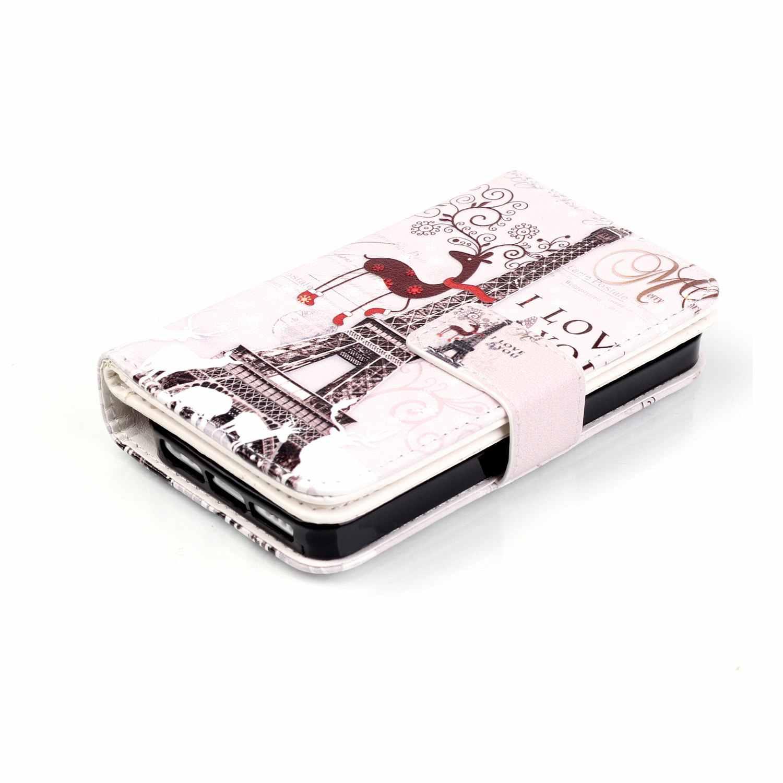 Kapak iPhone 5 5S kapak iPhone 5C Coque Fundas 9 kart sahipleri cüzdan kılıf Apple iPhone 5 için S SE kılıf lüks PU deri kapak