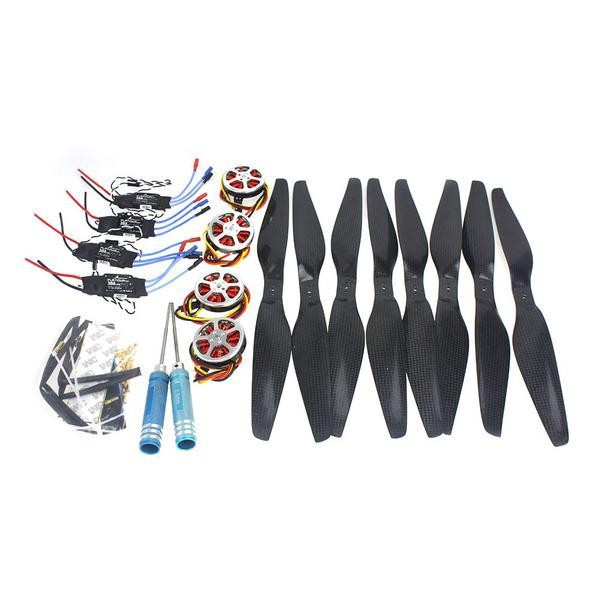 JMT Foldable Rack RC Quadcopter Kit +750KV Motor+14x5.5 Propeller+30A ESC+ KK Connection Board 4set lot universal rc quadcopter part kit 1045 propeller 1pair hp 30a brushless esc a2212 1000kv outrunner brushless motor