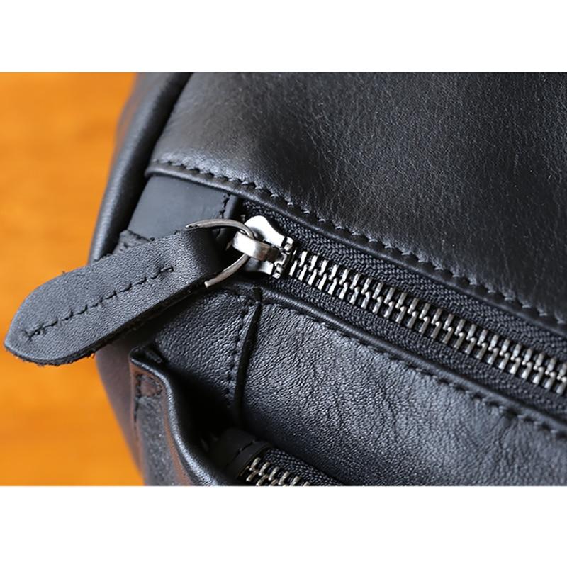 AETOO Leather shoulder bag male trend casual bag Large capacity horizontal men's head layer cowhide oblique cross bag