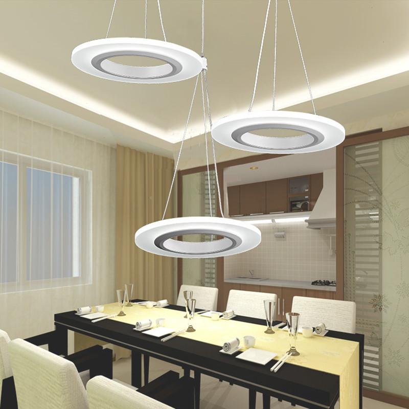 Kreative Moderne LED Pendelleuchten Annulus Einzigen Kopf Hngen Lampe Esszimmer Wohnzimmer Leuchten 110 V 220