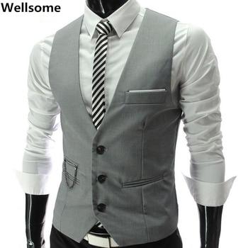 waistcoat for men Wedding vest men 2019 New Mens Vests Gentleman Slim Fit Social Mens Vest Party Gilet Square Tie Suit Set 7893
