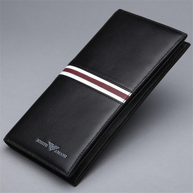 2015 new 100% Genuine Leather luxury men wallet mens checkbook wallets