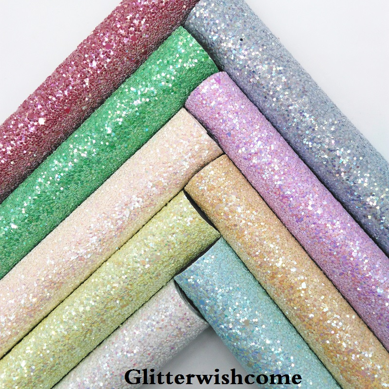 Glitterwishcome 21X29 см A4 Размеры синтетическая кожа, устойчивый блеск кожи, искусственная кожа PU Ткань Винил для Луки, GM023A