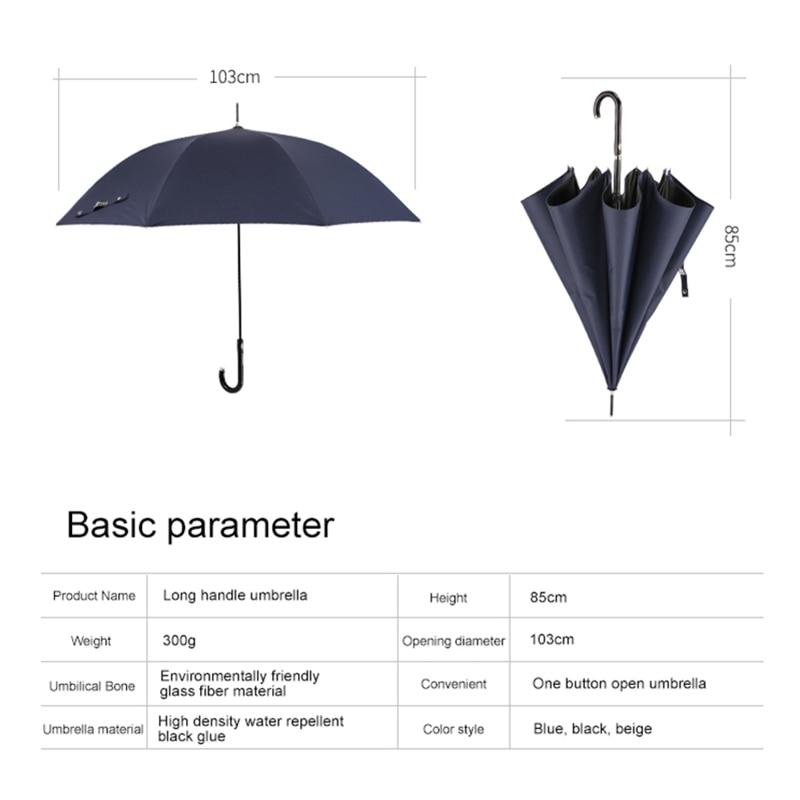 Double Auvent Bois Poignée Coupe-vent en fibre de verre auto ouvrir /& fermer parapluie noir