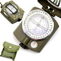 2017 New Waterproof Noctilucent Type Army Outdoor Use Military Travel Geology Pocket Prismatic Compass With Pouch