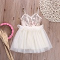 2016 girl lace dress girls summer princess dresses children cute vestidos Sequined Kid Dress Summer Clothing