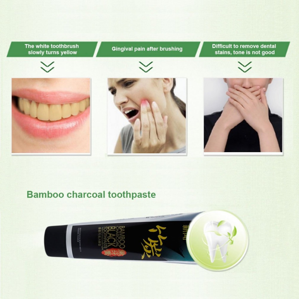 aliexpress com buy bamboo charcoal black toothpaste whitening