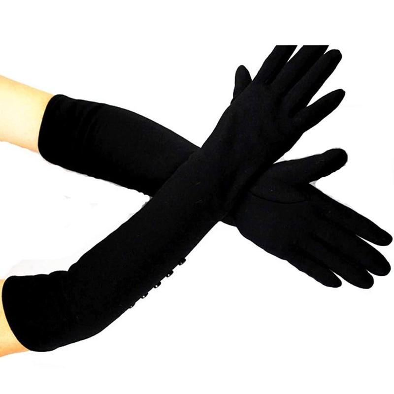 48 cm lange katoenen materiaal dames gebreide handschoenen over de - Kledingaccessoires - Foto 4
