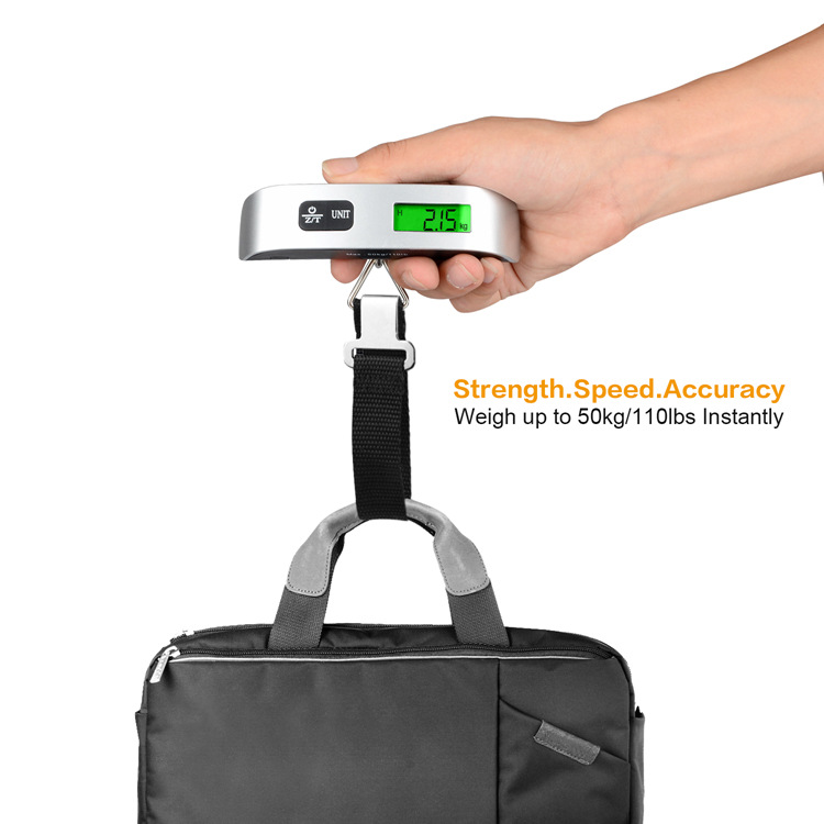 Digital Kitchen scales Luggage Scale 50kg 110 Pounds with Temperature Sensor and Tare Function Portable Scale for Travel in Kitchen Scales from Home Garden