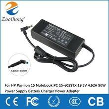 Для hp Pavilion 15 notebook PC 15-e029TX 19,5 V 4.62A 90W блок питания зарядное устройство адаптер питания