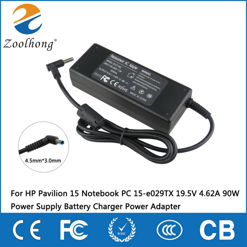 For HP Pavilion 15 Notebook PC 15-e029TX 19.5V 4.62A 90W Power Supply Battery Charger Power AdapterFor HP Pavilion 15 Notebook PC 15-e029TX 19.5V 4.62A 90W Power Supply Battery Charger Power Adapter
