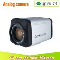 Yunsye Free Shipping 30X ZOOM CAMERA 1 3 SONY CCD 700TVL Box Camera PTZ ZOOM CAMERA