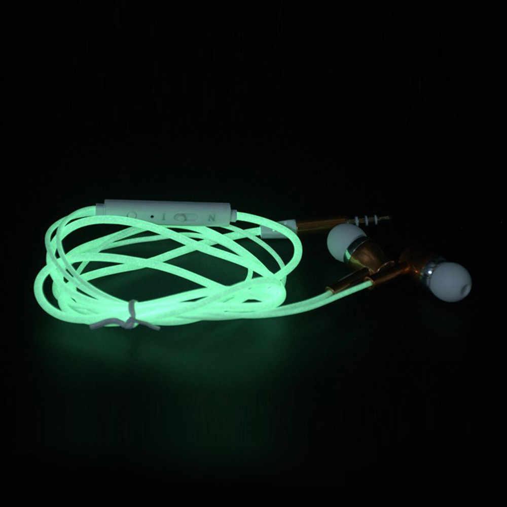 يانغمايلي 3.5 مللي متر في الأذن ستيريو مضيئة eraphone سماعة سوبر باس سماعة موسيقى سماعات للهاتف السلكية سماعة رأس مع ميكروفون z6