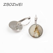 ZBOZWEI 2018 1lot 2018 Fashion Peter Rabit Beatrix Potter Logo earring Storybook Fantasy Vintage earring Women Jewelry Gift(China)