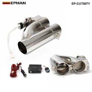 """Image 4 - Patented Product 2""""/2.25"""" / 2.5"""" / 3"""" Electric Exhaust Downpipe Cutout E Cut Out Dual Valve Controller Remote Kit EP CUT007Y"""
