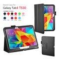 Для Galaxy Tab4 10.1 чехол, стенд кожаный чехол для Samsung Galaxy Tab4 10.1 T530 200 шт./лот бесплатная доставка